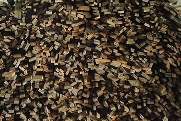 """Liteaux de bois pour découpe en sac """"allume-feu"""""""